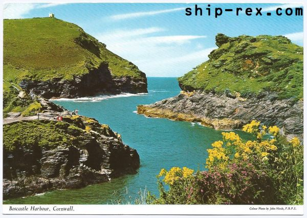 Boscastle Harbour, Cornwall - postcard